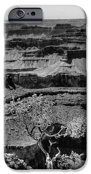 Monotone iPhone Cases - The Magnificent Grand Canyon iPhone Case by David Patterson