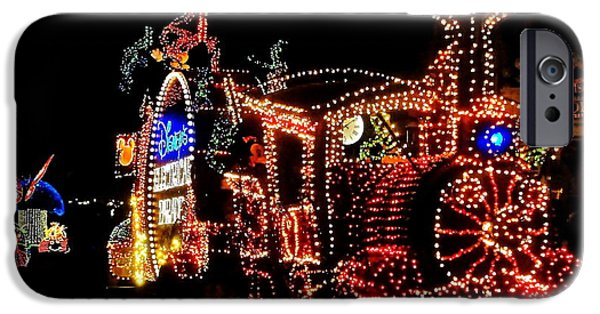 Magic Kingdom iPhone Cases - The Main Street Electrical Parade iPhone Case by Benjamin Yeager