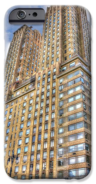 Twin Towers Nyc iPhone Cases - The Majestic Building at Central Park West iPhone Case by Randy Aveille