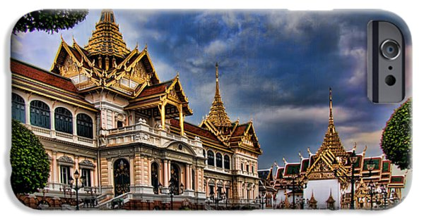 Bangkok iPhone Cases - The Majestic Grand Palace Bangkok  iPhone Case by David Smith