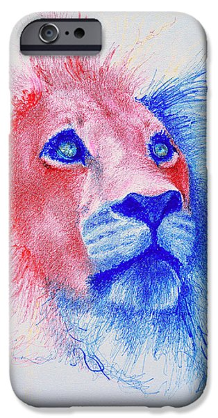 Lion iPhone Cases - The Majestic Majesty  iPhone Case by Fithi Abraham