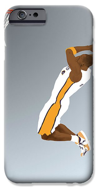 Bryant Drawings iPhone Cases - The Mamba Rises iPhone Case by Lee McCormick