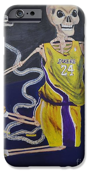 The Mamba Strikes iPhone Case by Visual  Renegade Art