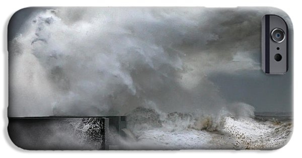 Storm Prints Pyrography iPhone Cases - The Man form the Ocean iPhone Case by Veselin Malinov