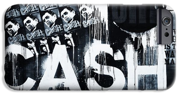 Famous Musician iPhone Cases - The Man In Black iPhone Case by Dan Sproul
