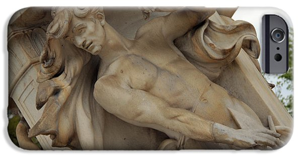 Cora Wandel iPhone Cases - The Man Of The Fountain iPhone Case by Cora Wandel