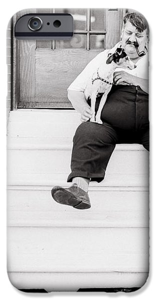 The man with the little dog circa 1938  iPhone Case by Aged Pixel