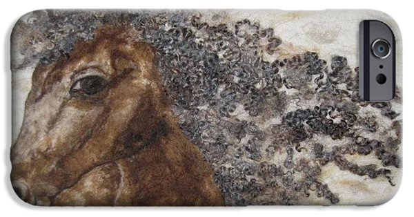 Horse Tapestries - Textiles iPhone Cases - The Mane Affair iPhone Case by Bonnie Nash