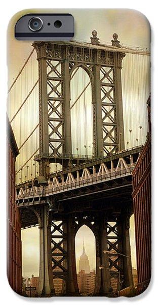 Famous Bridge iPhone Cases - The Manhattan Bridge iPhone Case by Jessica Jenney