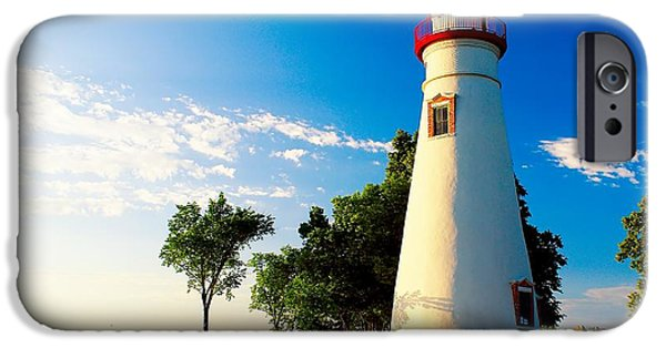 Lighthouse iPhone Cases - The Marblehead Light iPhone Case by Nick Zelinsky
