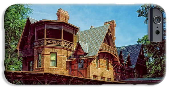 Beauty Mark Photographs iPhone Cases - The Mark Twain House - Hartford iPhone Case by Mountain Dreams