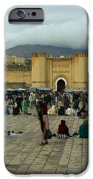 The Market in Fez iPhone Case by Sophie Vigneault