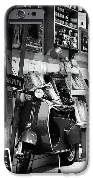 Monotone iPhone Cases - The Market Ride iPhone Case by John Rizzuto