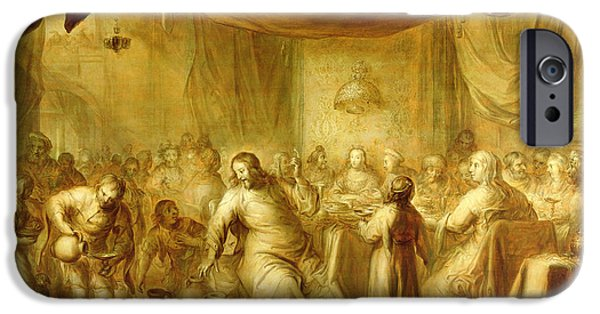 Miracle Photographs iPhone Cases - The Marriage At Cana iPhone Case by Adriaen Pietersz. van de Venne
