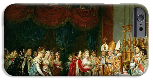 Court iPhone Cases - The Marriage Of Napoleon I 1769-1821 And Marie Louise 1791-1847 Archduchess Of Austria, 2nd April iPhone Case by Georges Rouget