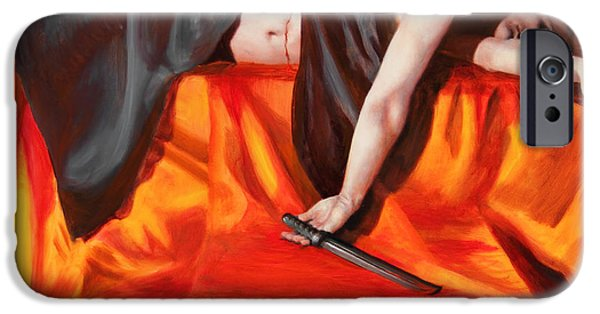 Archetype Paintings iPhone Cases - The Martyr iPhone Case by Shelley  Irish