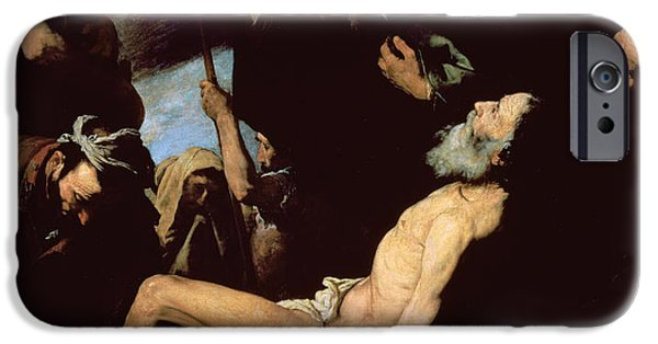 Punishment iPhone Cases - The Martyrdom of Saint Andrew iPhone Case by Jusepe de Ribera