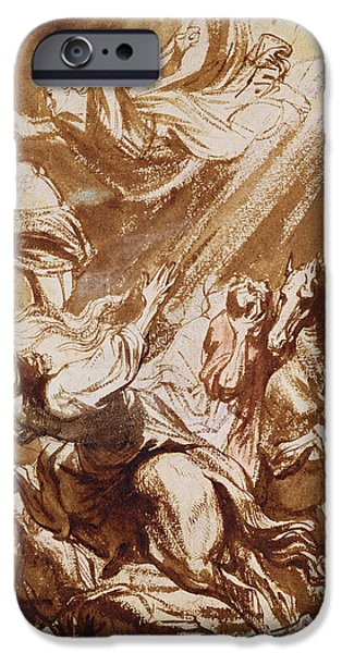 Van Dyke Brown iPhone Cases - The Martyrdom of Saint Catherine iPhone Case by Sir Anthony van Dyck