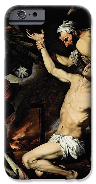 Torsion iPhone Cases - The Martyrdom of Saint Lawrence iPhone Case by Jusepe de Ribera