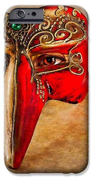 The Mask on the floor iPhone Case by Bob Orsillo