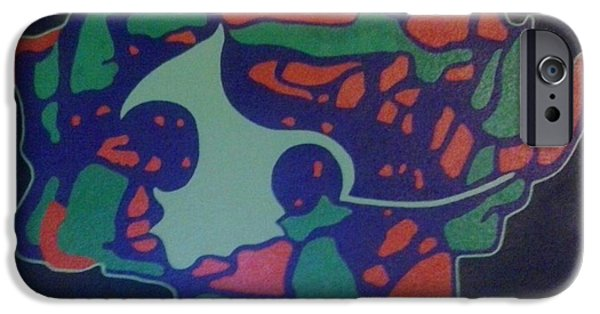 Abstracted Tapestries - Textiles iPhone Cases - The Mask iPhone Case by Steven Taylor
