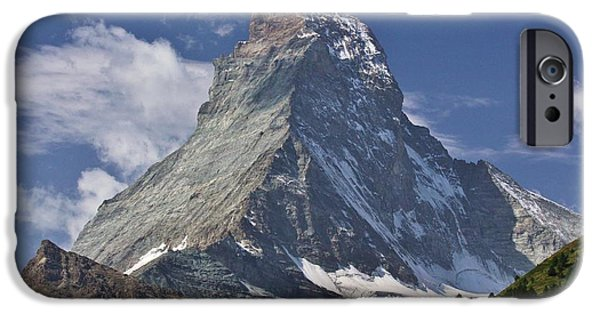 Swiss Horn iPhone Cases - The Matterhorn iPhone Case by David Broome