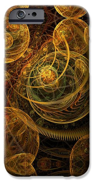 Apophysis Pastels iPhone Cases - The Mechanical Universe iPhone Case by Gayle Odsather
