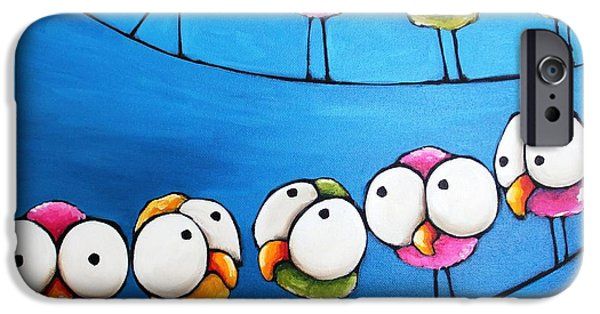 Whimsical Birds iPhone Cases - The Meeting iPhone Case by Lucia Stewart
