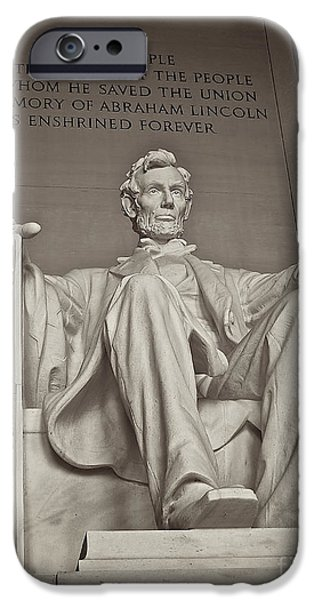 D.c. iPhone Cases - The Memory of Abraham Lincoln iPhone Case by Mark Miller