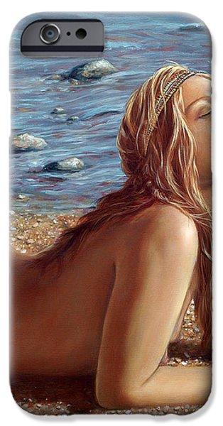 The Mermaids Friend iPhone Case by John Silver