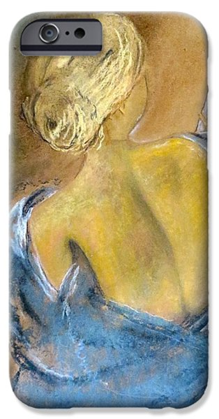 Angel Blues Pastels iPhone Cases - The Messenger iPhone Case by C Pichura