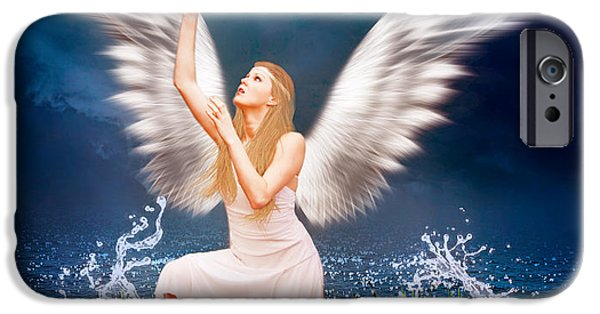 Seraphim Angel iPhone Cases - The Messenger iPhone Case by Ester  Rogers