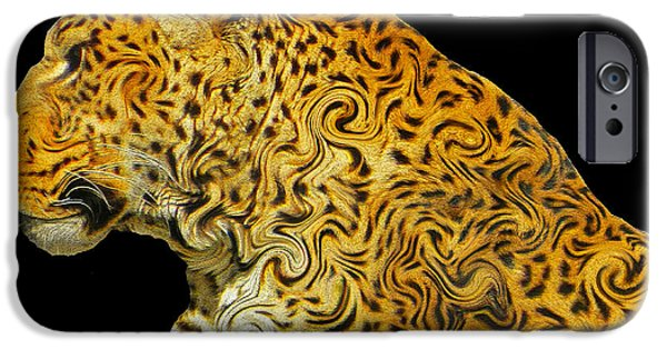 Wild Animals iPhone Cases - The Mighty Panthera Pardus iPhone Case by Emmy Marie Vickers