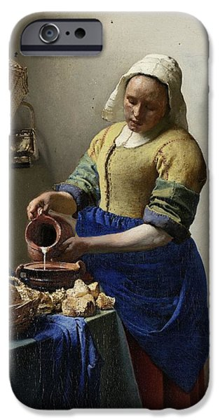 The Milkmaid iPhone Case by Johannes Vermeer