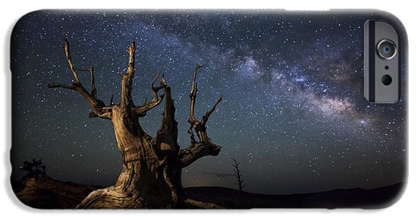 Patriarch iPhone Cases - The Milky Way And A Dead Bristlecone iPhone Case by Dan Barr