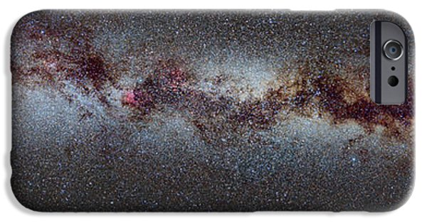 Swans... iPhone Cases - The Milky Way from Scorpio and Antares to Perseus iPhone Case by Guido Montanes Castillo