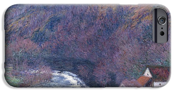 1880s iPhone Cases - The Mill at Vervy iPhone Case by Claude Monet