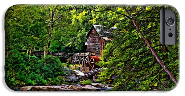Grist Mill iPhone Cases - The Mill paint 2 iPhone Case by Steve Harrington