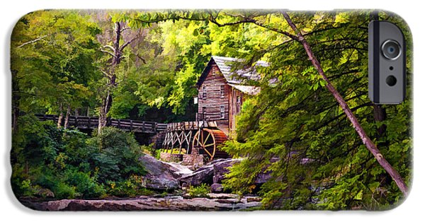 Grist Mill iPhone Cases - The Mill paint iPhone Case by Steve Harrington
