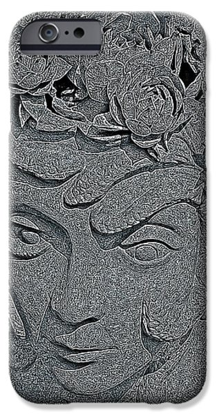 Gray Hair iPhone Cases - The Mind of Medusa  iPhone Case by Chris Berry