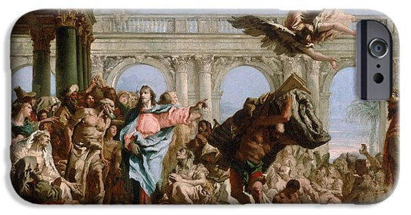 The Pool iPhone Cases - The Miracle of the Pool of Bethesda iPhone Case by Giovanni Domenico Tiepolo