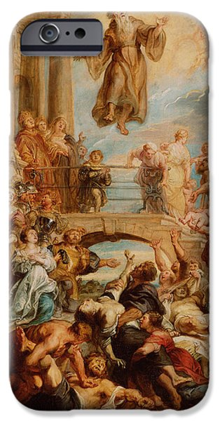 Miracle iPhone Cases - The Miracles of Saint Francis of Paola iPhone Case by Peter Paul Rubens