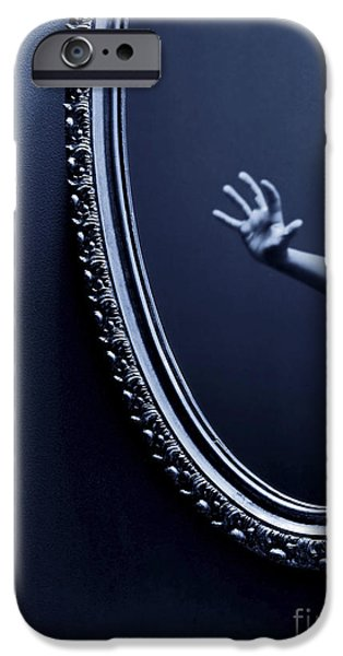 Fear iPhone Cases - The Mirror iPhone Case by Diane Diederich
