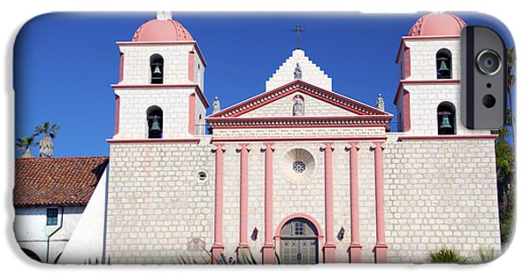 The Followers iPhone Cases - The Mission At Santa Barbara California iPhone Case by Barbara Snyder