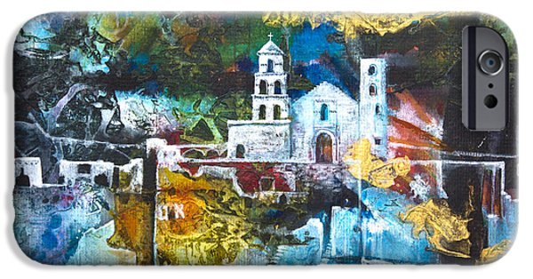 Ruin Mixed Media iPhone Cases - The Mission iPhone Case by Patricia Allingham Carlson