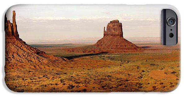 Cathedral Rock iPhone Cases - The Mittens Panorama iPhone Case by Bryan Shane