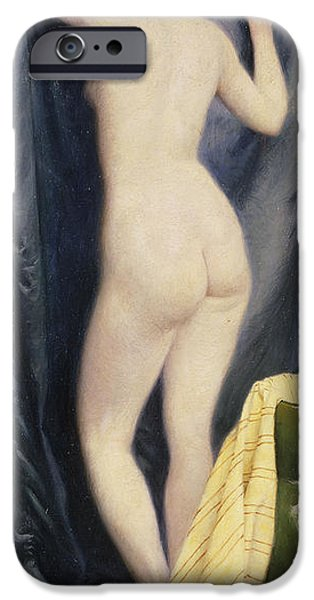 Deceit iPhone Cases - The Model, 1894 Oil On Canvas iPhone Case by Paul Fischer