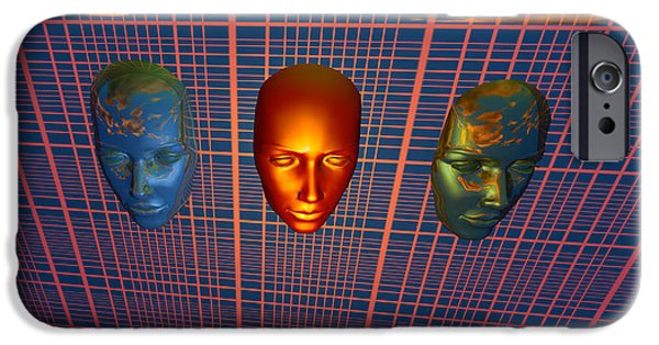 Cyberspace Digital Art iPhone Cases - The Modern Face Of Robotics iPhone Case by Mark Stevenson