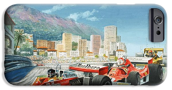Circuit Paintings iPhone Cases - The Monaco Grand Prix iPhone Case by English School