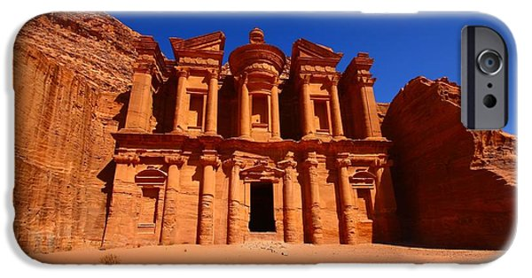 Jordan Photographs iPhone Cases - The Monastery iPhone Case by FireFlux Studios